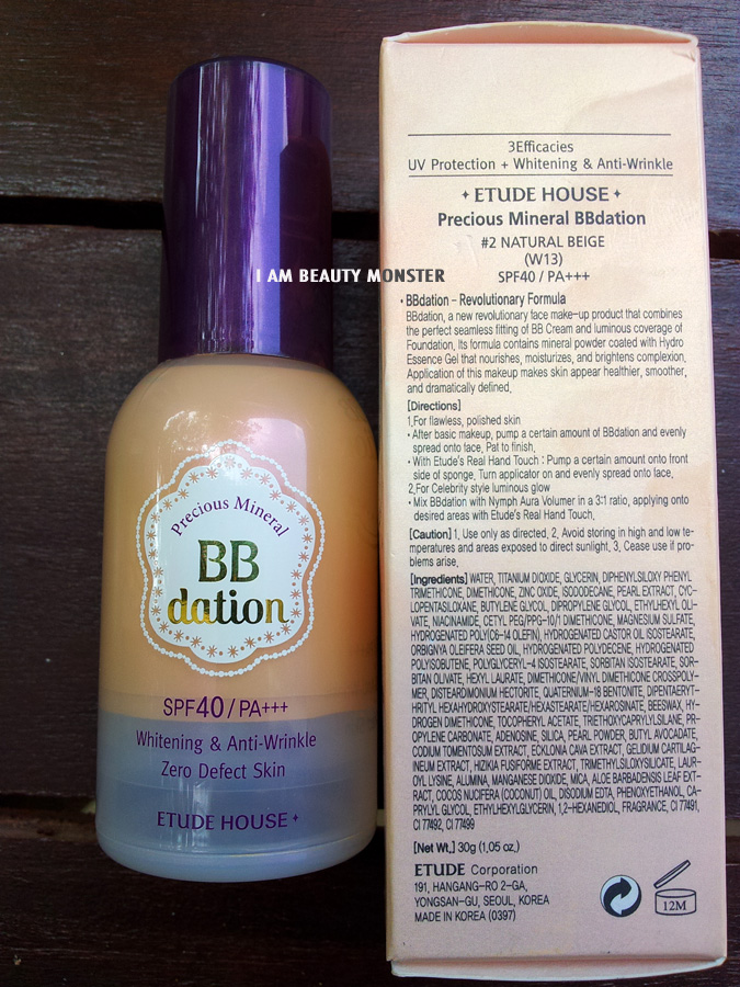 ETUDE Precious Mineral BB Dation SPF40 PA+++