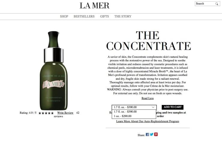 รีวิวครีมบำรุงผิวหน้า, รีวิวครีมบำรุงผิวเทพ, รีวิวครีมบำรุงผิวหน้าที่ใช้ดีมาก, La Mer The Concentrate Review