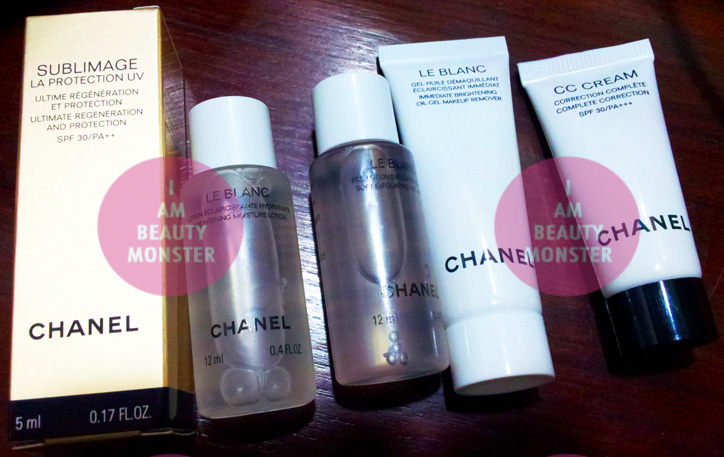 Chanel Skincare Sample Set