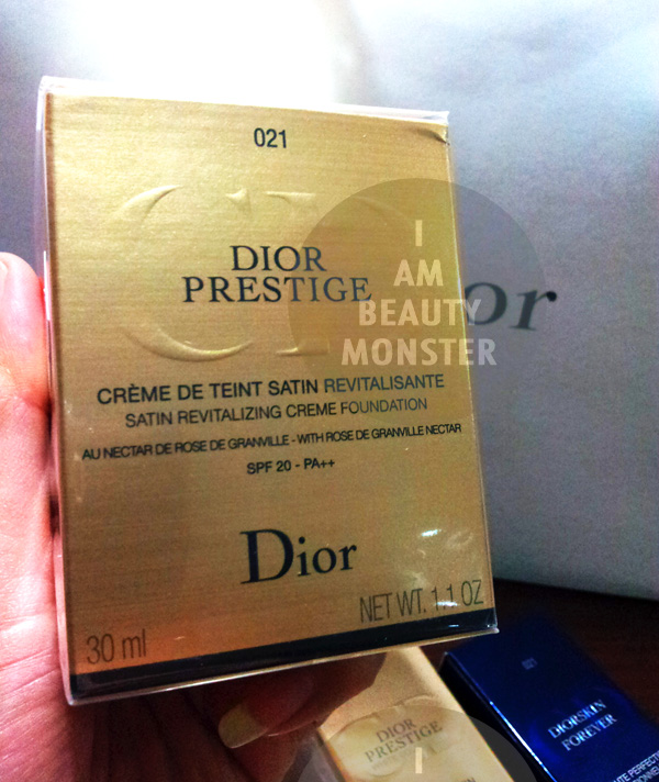 DIOR PRESTIGE Satin Revitalizing Creme Foundation Review, รีวิว DIOR PRESTIGE Satin Revitalizing Creme Foundation