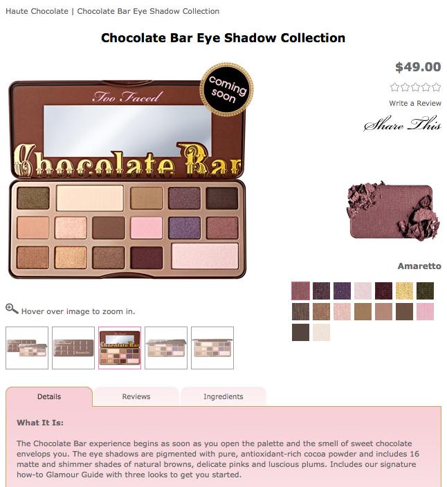 Too Faced Chocolate Bar Eye Shadow Collection, ข่าวสารเครื่องสำอางใหม่, ข่าวสารความงาม, Beauty News, Cosmetics News, Too Faced, Chocolate Bar Eye Shadow Collection Review, รีวิว Too Faced, Too Faced Eyeshadow