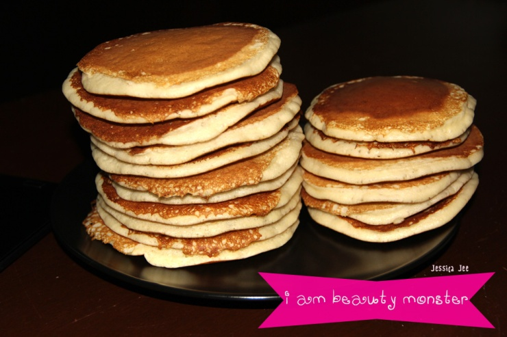 Pancake, Homemake, Homemade Pancake, Dessert, ทำขนม, ทำแพนเค้กกินเอง, แพนเค้ก, pancake, ขนม, ขนมแพนเค้ก, iambeautymonster, i am beauty monster, i am beauty monster blog, beauty blogger, iambeautymonster beauty blog
