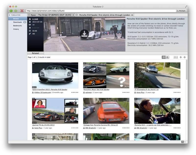 ตัวอย่าง : บราวซ์ และดาวน์โหลดวิดิโอ จาก DailyMotion