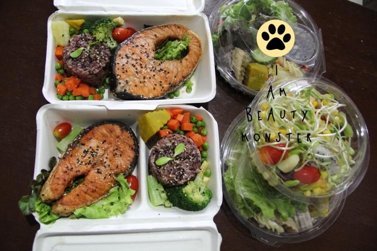 eat clean, clean food, heathy, heathy food, foods, veggie, salad, salmon steak, อาหารลดความอ้วน, อาหารเพื่อสุขภาพ, อาหารคลีน, กินคลีน