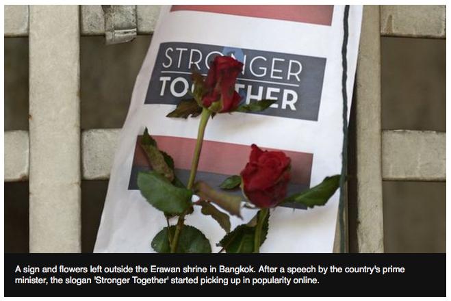 Stronger together, ระเบิดแยกราชประสงค์, ระเบิดศาลพระพรหม, pray for Bangkok