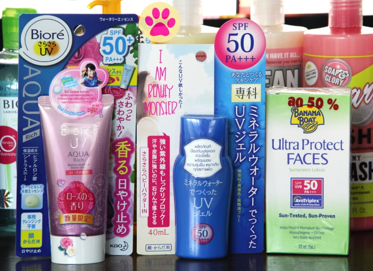 Drugstore shopping, Drugstore makeup, Drugstore beauty products, Biore UV AQUA Rich SPF50, Senka Protect UP SPF50, Banana Boat Ultra Protect Faces Sunscreen Lotion SPF50, BIODERMA Seblum H2O cleansing water, Maybelline Make Up Remover, Kose Softymo Deep cleansing Oil, Hada Lobo Facial Foam, Soap & Glory, Soap & Glory Body Wash, Sunscreen review, Sun Protection Review, Makeup remover review, Shopping Haul, Deep Cleansing Oil review, Beauty products review, Cheap Drugstore makeup, shopping, รีวิวครีมกันแดด, รีวิวเมคอัพรีมูฟเวอร์, รีวิวผลิตภัณฑ์ล้างเครื่องสำอาง, รีวิวเครื่องสำอาง, บิวตี้ บล็อกเกอร์, Beauty Blogger, i am beauty monster, IBM, iambeautymonster blog