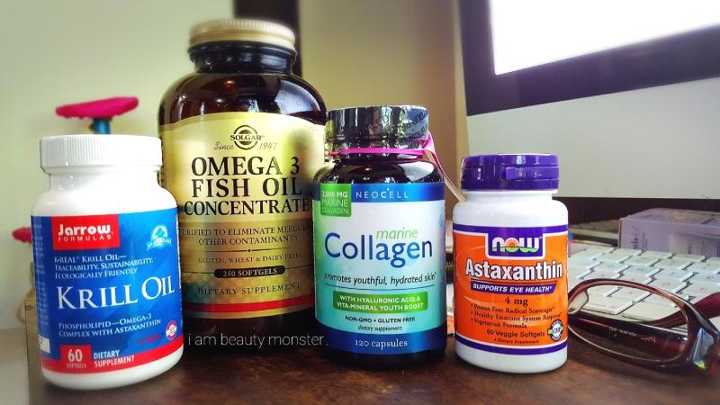 งามจากภายใน, บำรุงจากภายใน, วิตามิน, วิตามินบำรุงสุขภาพตา, วิตามินบำรุงสุขภาพผิว, สวยจากภายใน, Solgar vitamin, Now Foods vitamin, Blackmores vitamin, Jarrow Formulas vitamin, NEOCELL vitamin, Omega 3 fish oil concentrate, Krill Oil, วิตามินน้ำมันคิลล์, รีวิว Krill Oil, รีวิววิตามิน, รีวิว Astaxanthin, วิตามิน แอสต้าแซนทิน, รีวิววิตามิน NEOCELL marine collagen, รีวิว Neocell collagen, รีวิว น้ำมันโอเมก้า 3 Solar Omega 3, รีวิว Solgar, Marine Collagen, รีวิวคอลลาเจนจากปลา, รีวิววิตามินจากผู้ใช้จริง, รีวิวเครื่องสำอางจากผู้ใช้จริง, indie beauty blogger, iBuy iUse iReview iBlog, iambeautymonster, iambeautymonster blogger, IBM, อินดี้ บล็อกเกอร์, รีวิวเครื่องสำอางจาก Indie Blogger