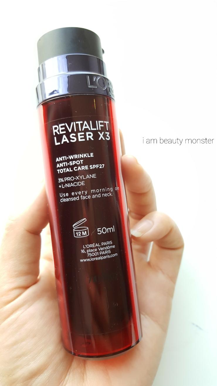 รีวิว L'Oreal Revitalift Laser X3, รีวิวครีมบำรุงผิวผสมสารกันแดด, ครีมบำรุงสำหรับผิวธรรมดา, ครีมบำรุงลดเลือนริ้วรอย, รีวิว L'Oreal Revitalift